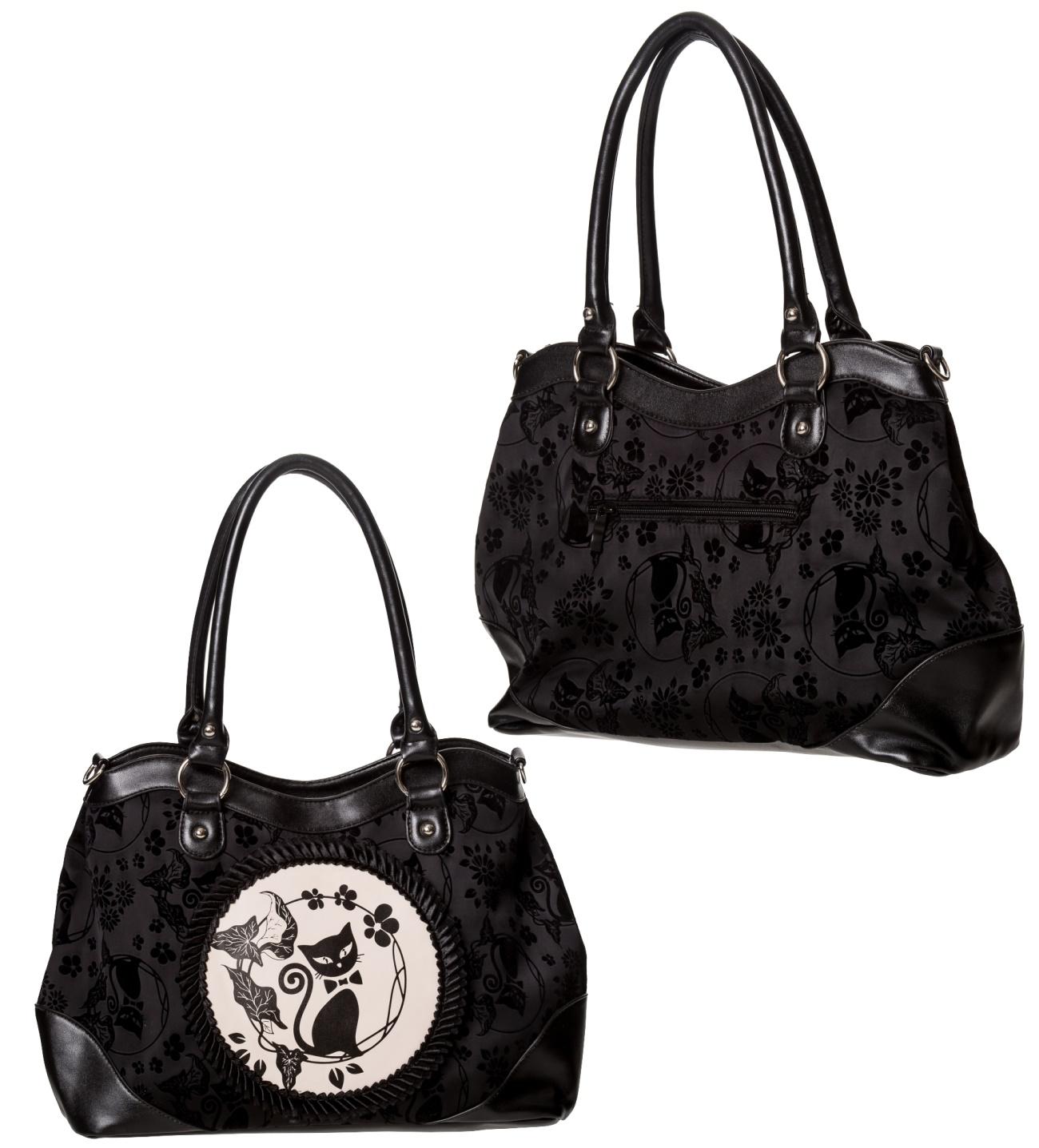 ff9c9953ab3cf Handtasche Gothc Cat Banned - Banned Taschen - Gothic Onlineshop ...