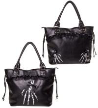 Handtasche Skeletthand Banned
