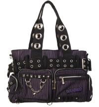 Handtasche Stripe lila gestreift Banned