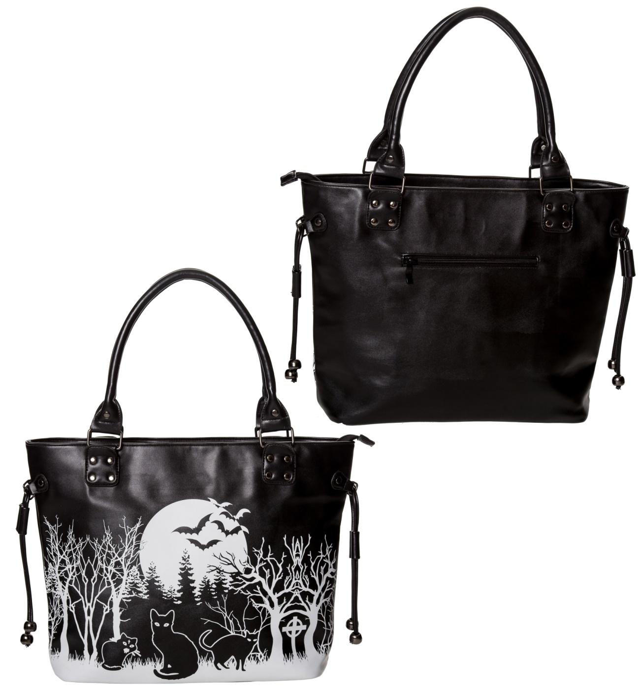 8e5b9415f5b47 Handtasche Cat Night Banned - Banned Taschen - Gothic Onlineshop ...