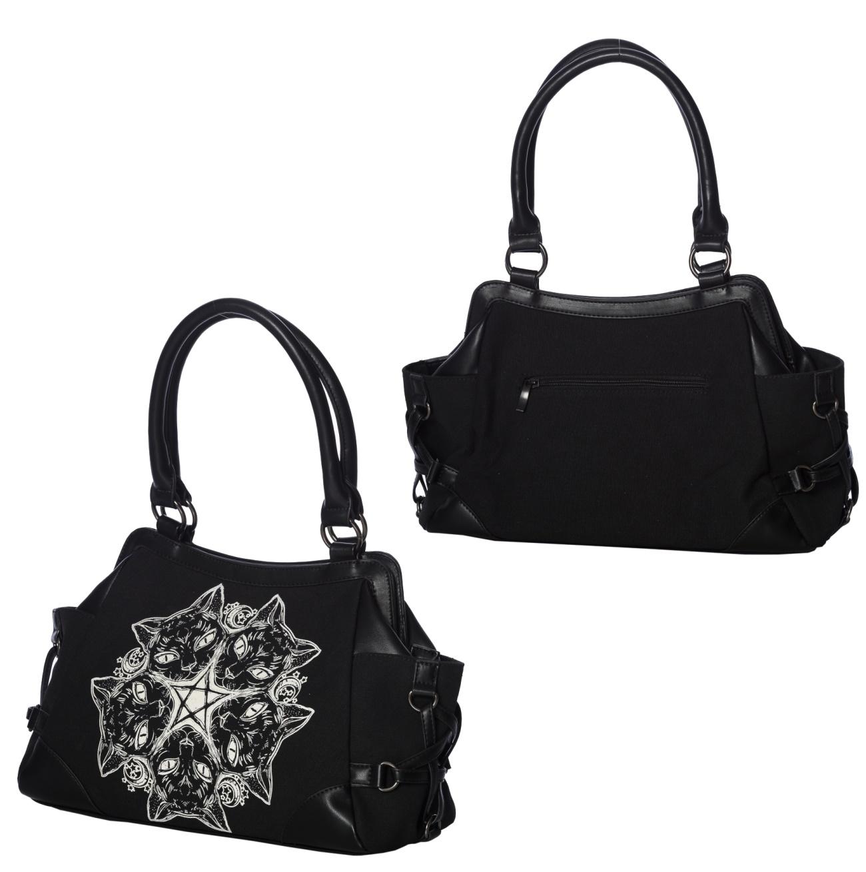 050030012af33 Tasche Quinque Cats Pentagramm Katzen Banned - Banned Taschen ...
