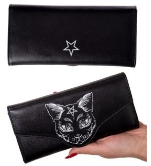 Geldbörse Katze /Pentagramm Banned