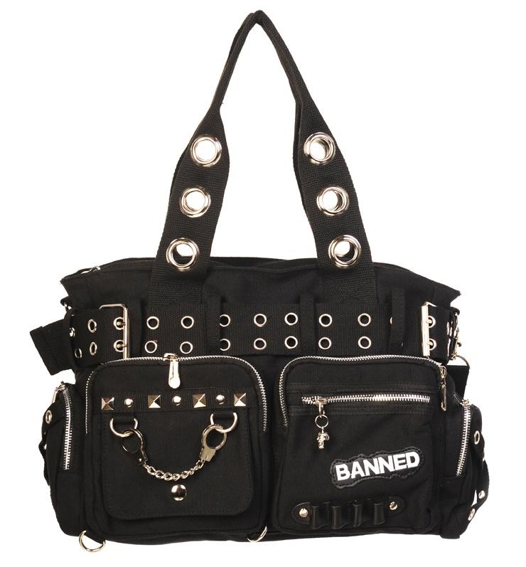 f28d3b11e5f23 Handtasche Gothic Punk Banned - Banned Taschen - Gothic Onlineshop ...