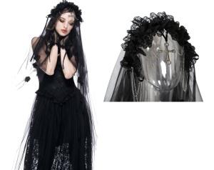 Gothic Schleier Hochzeitsschleier Dark in Love