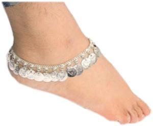 Fußkette indisch Blättchen