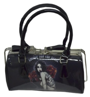 Handtasche Henkeltasche Rockabilly Bag Beauty and the Beast