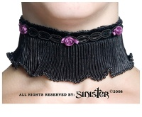 Halsband Kropfband Stoffrose Sinister