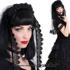 Gothic Hochzeitsschleier aus Tüll Sinister