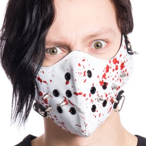 Gesichtsmaske Blut