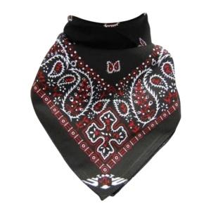 Bandana Tuch schwarz/rot
