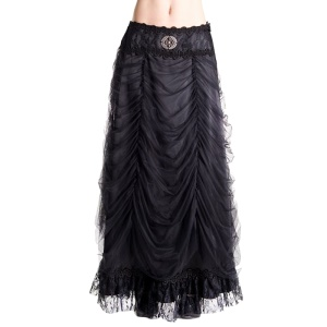 Gothicrock Noble Skirt Satin Aderlass