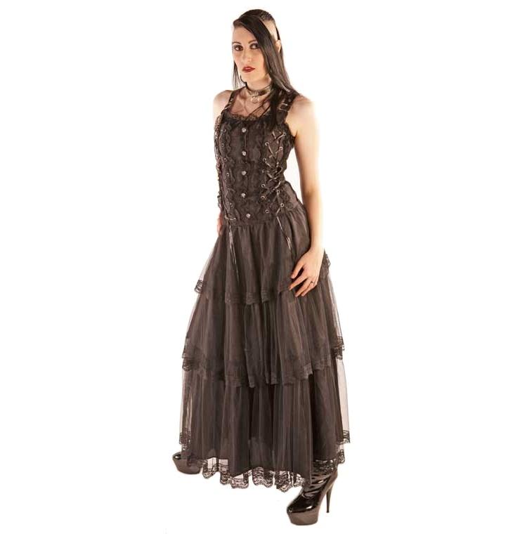Kleid Lolita Longdress Brocade/Gothickleid Aderlass