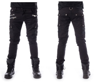 Herren Gothic Cargojeans Anders Pant Chemical Black