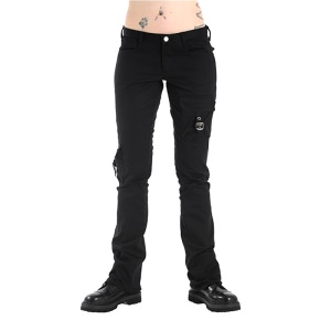 Pocket Hipster Denim Damenhose im Militärstil Black Pistol