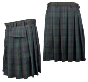 Short Kilt Black Pistol