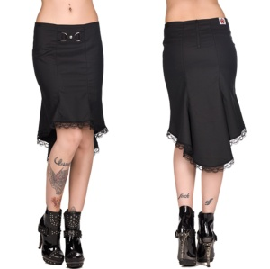 Vokuhila Rock Wave Skirt Black Pistol