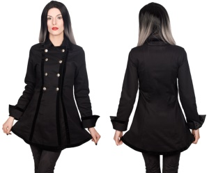 Pirate Jacket Uniformjacke Damen Black Pistol