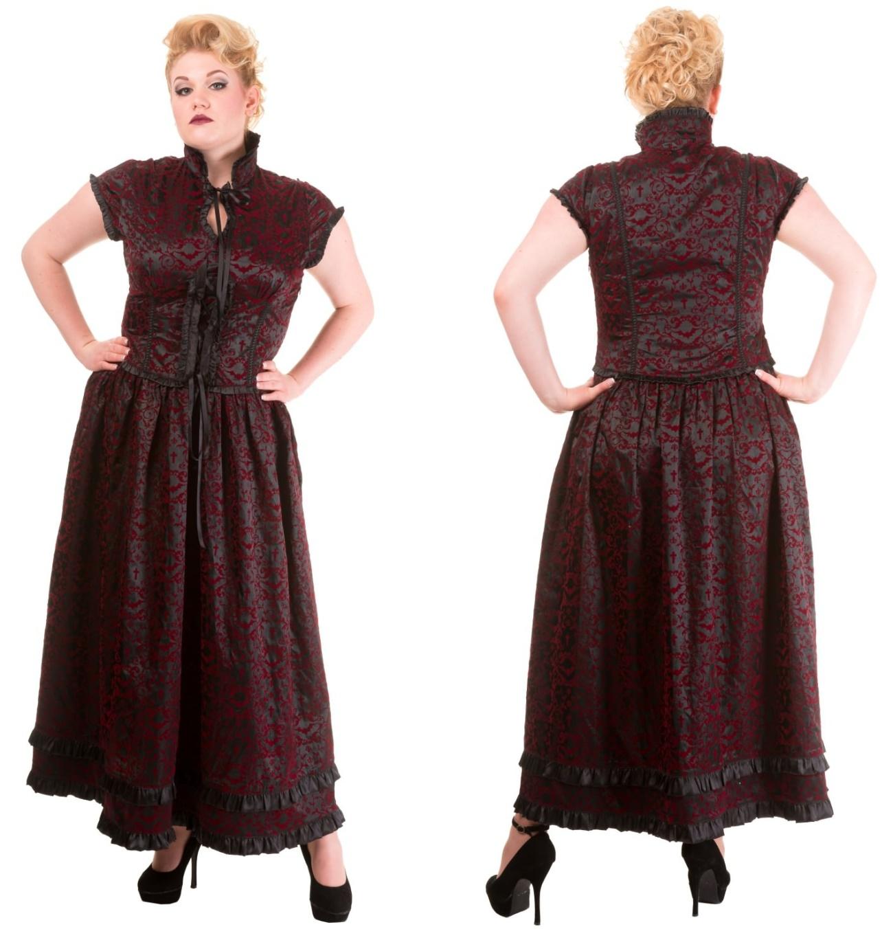 Vintage Gothic Kleid Vine Übergröße Banned - Banned Clothing Kleider ...