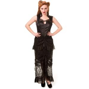 Gothic Kleid Satin Spitze Banned