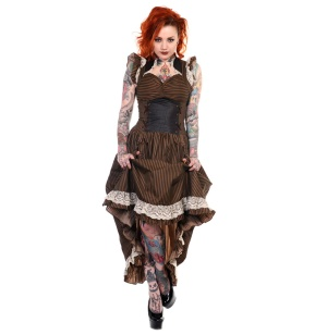 Victorian Vintage Dress/Steampunkkleid Banned bis Plussize