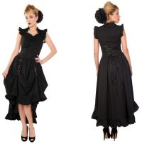 Gothic Kleid Banned Alternative Wear bis Plussize