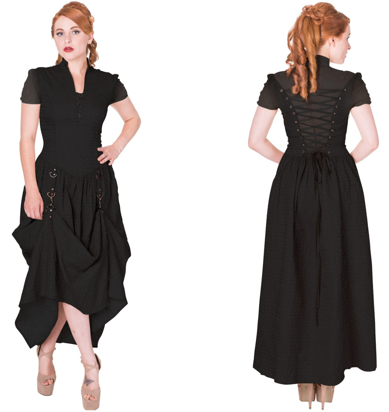 langes gothic kleid banned