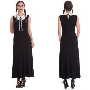 Gothickleid mit weissem Kragen