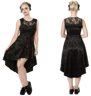 High Low Kleid Skull Candy Banned