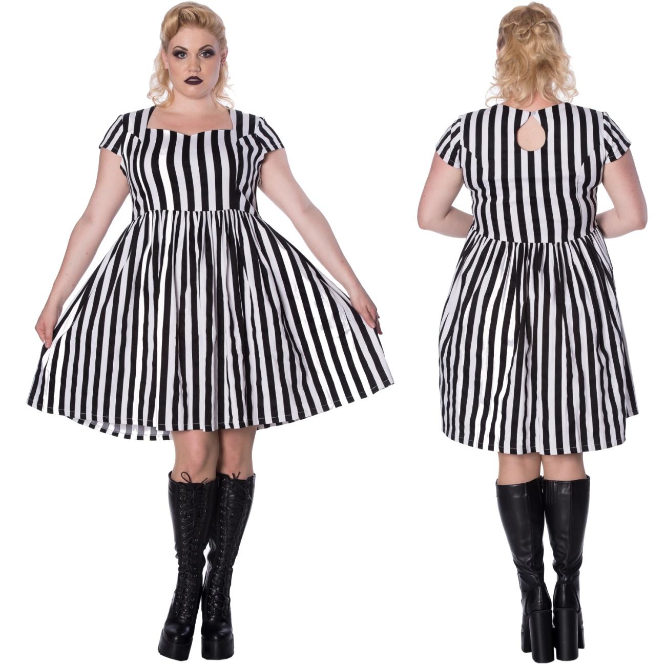 Heart to Heart Dress/Streifen Kleid Plussize Banned - Banned Kleider ...