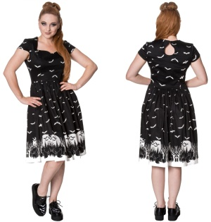 Rockabilly Kleid Fledermaus Banned