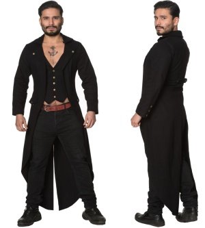 Herren Mantel Gothic Zone out Jacket Banned