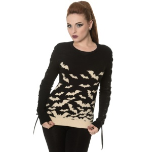 Damen Strickpullover Fledermaus Banned