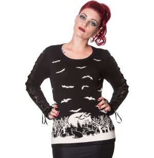 Damen Strickpullover Bat Banned