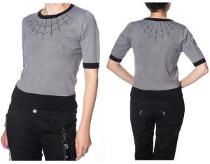 Strickpullover mit Spinnennetz Banned