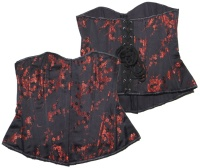 Corsage red petal Silk Burleska