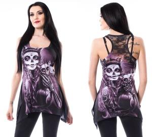 Camilla Top mit Gothicprint Vixxsin