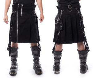 Kilt Schottenrock Chemical Black
