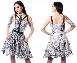 Kleid mit Zweigen und Raben Crow Dress Vixxsin