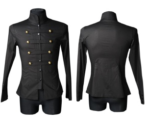 Männerhemd langarm Militärhemd Dracula Clothing