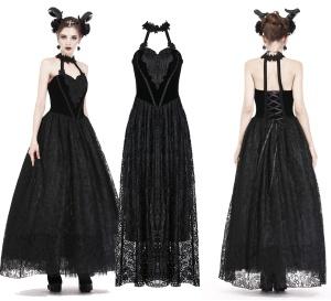 Langes Gothickleid aus Spitze und Samt Dark in Love