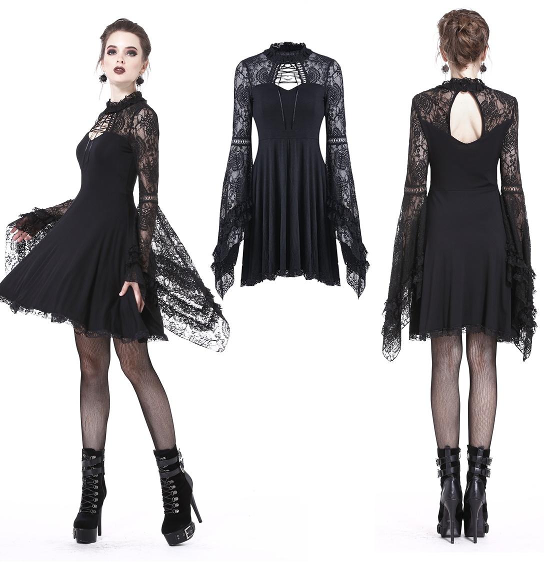 e2f1b3da2b96 kurzes Spitzenkleid Dark in Love - Dark in Love bei Gothic Onlineshop -  www.the-clash.de