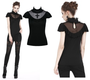 Gothic Shirt mit Kreuz Dark in Love