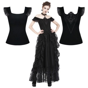 Gothic Top Dark in Love