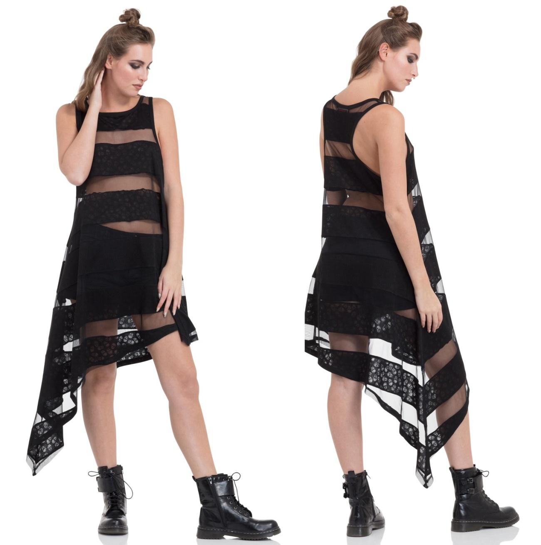 Grunge Kleid Skull Striped Dress Jawbreaker - One Direction Kleider ...