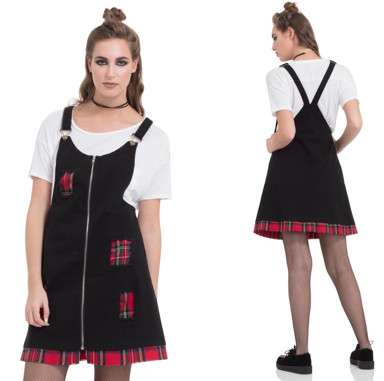 Punk Me Dress Tartan Kleid Jawbreaker - Jawbreaker Kleider - Details ...