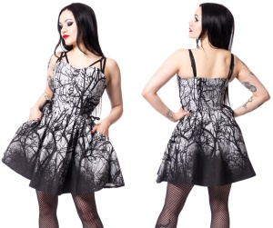 Dark Forest Dress Gothic Kleid Vixxsin