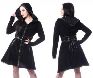 Damenmantel mit Taillenkorsage Dark Sense Coat Poizen Industries