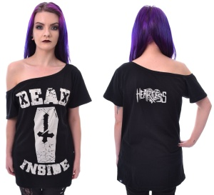 Schulterfreies Tshirt Dead Inside Heartless