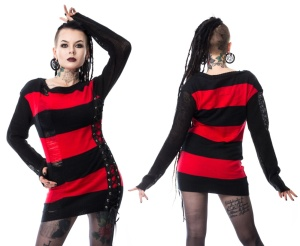 Damen Strickpullover Dropout Top Heartless