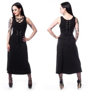 Elisa Dress Poizen Industries Langes Gothickleid mit Schnürung